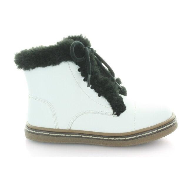 Aubrey's Fur Lace Boot, White