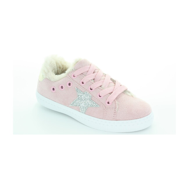 Ava's Star Fur Lace Sneaker, Pink