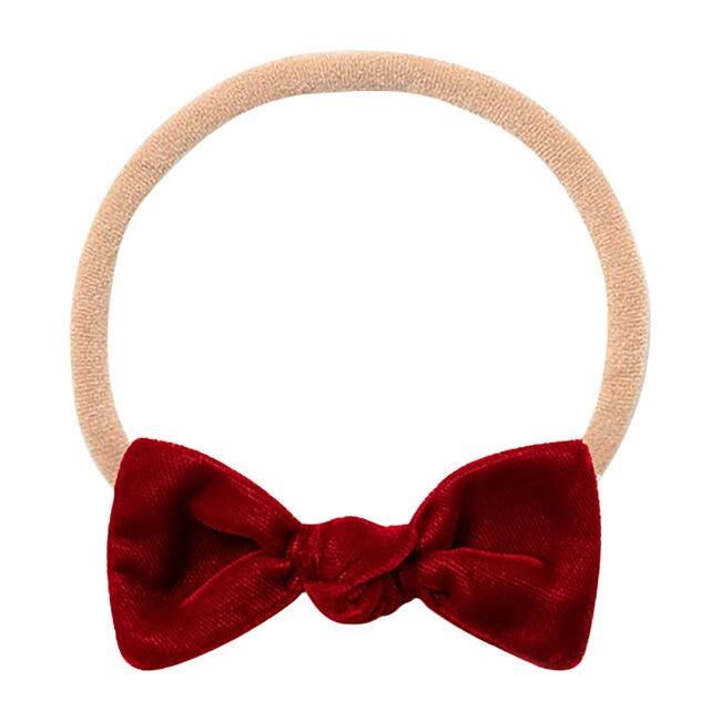 Mini Bow Headband, Red Velvet