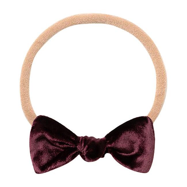 Mini Bow Headband, Plum Velvet