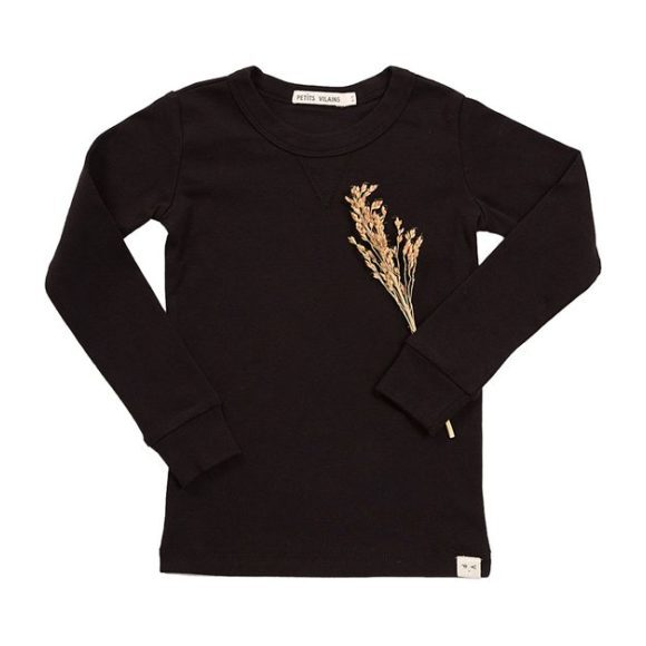Dominique Long-Sleeve Crew, Black