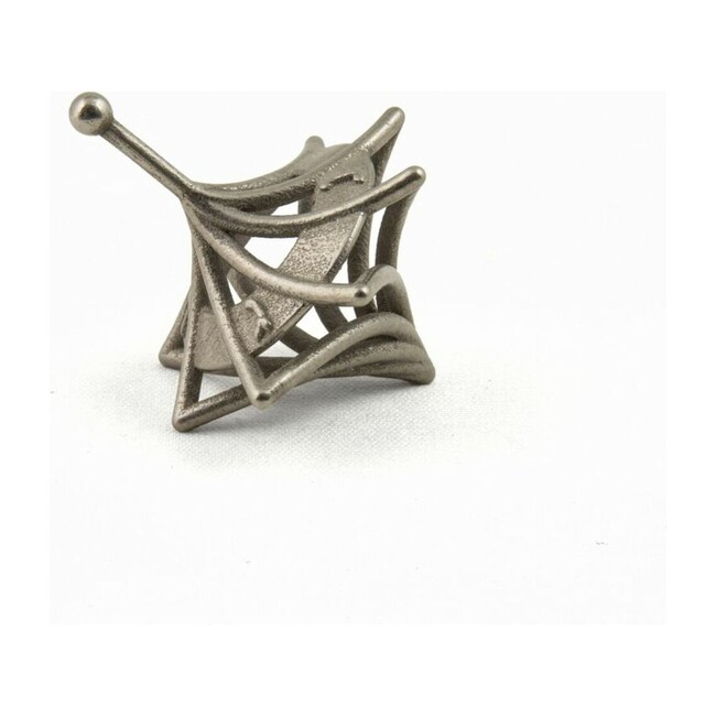 3D-Printed Twisted Caged Dreidel, Nickel