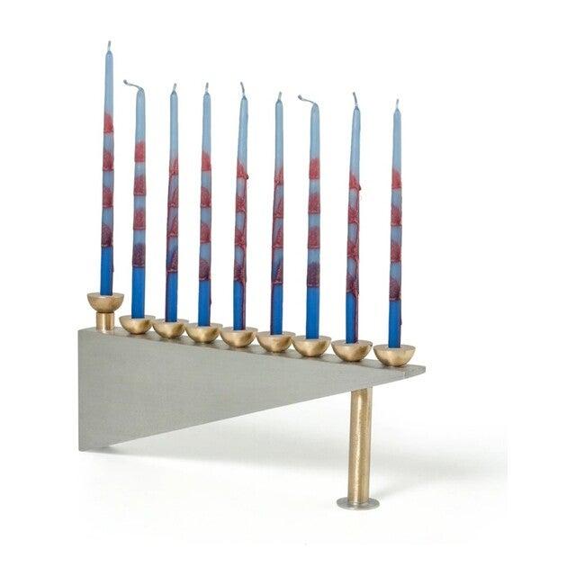 Modern Geometric Hanukkah Menorah