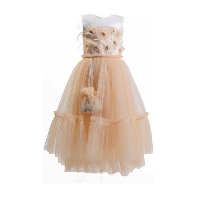Feather Dress on Tulle