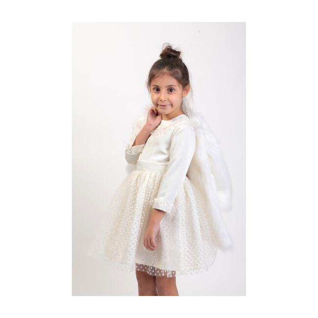 Faux Fur Coat, White