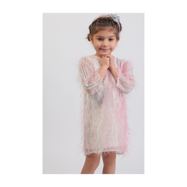 Party Dress, Pink & Silver