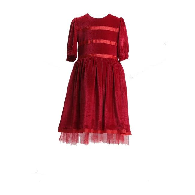 Velvet Party Dress, Red