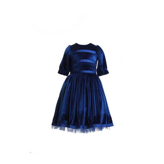 Velvet Party Dress, Blue