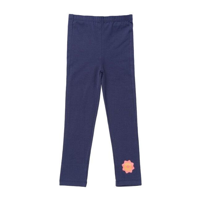 Organic Cotton Leggings, Navy