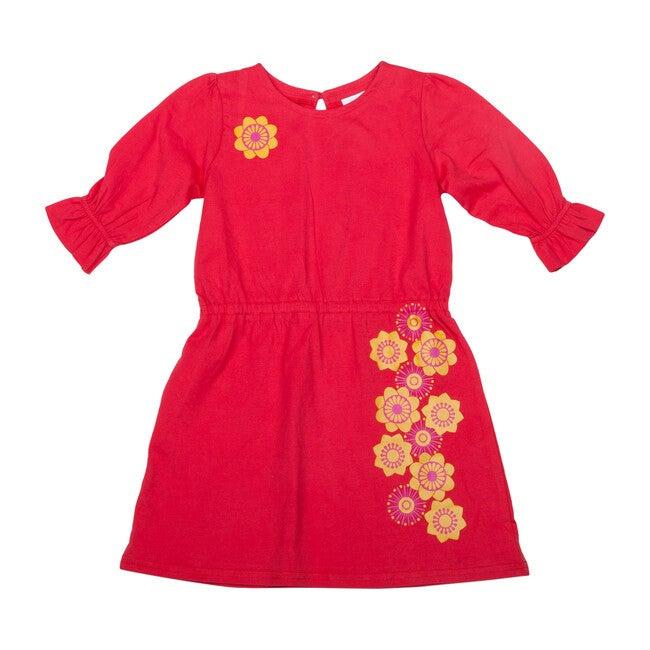 Organic Cotton Joli Dress, Red
