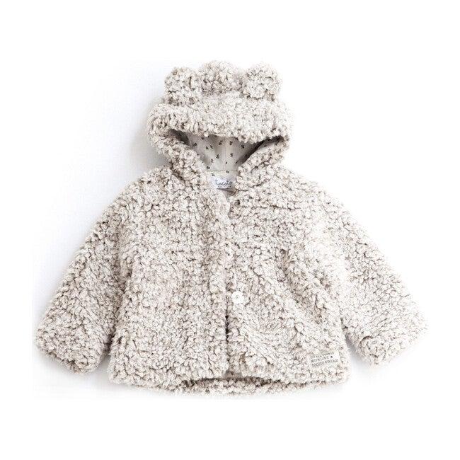 Hooded Bear Jacket, Beige