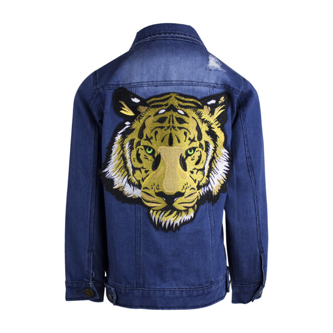 Tiger Denim Jacket, Blue
