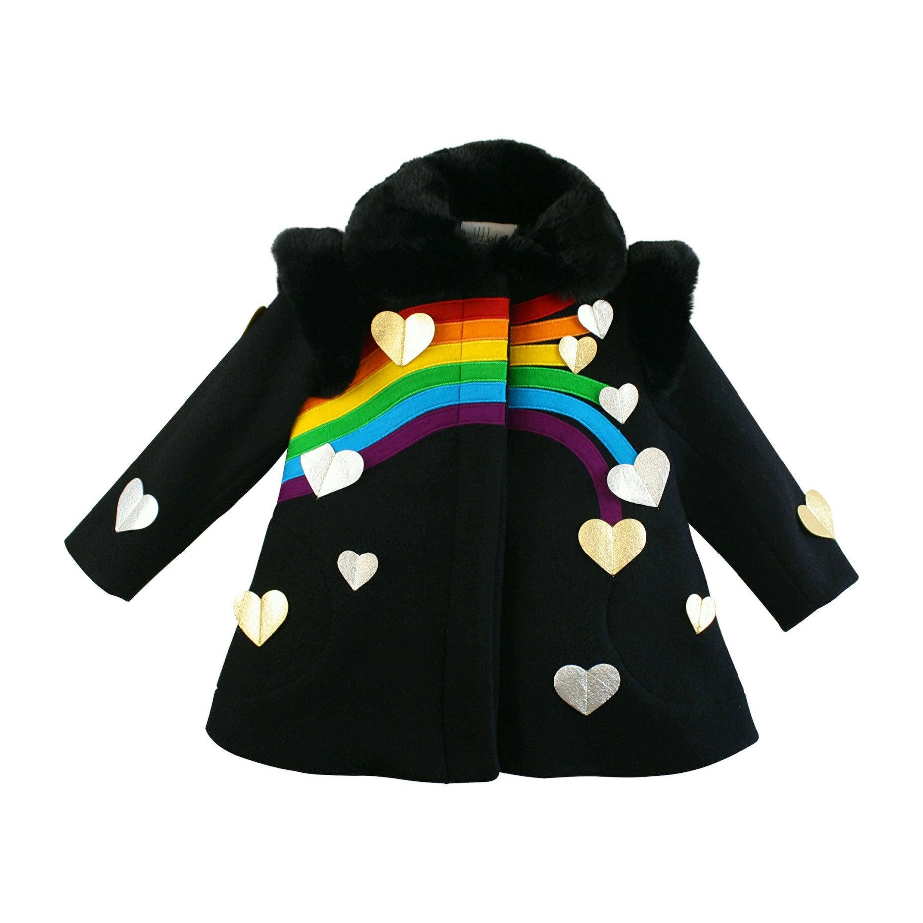 Queen of Hearts Coat, Black