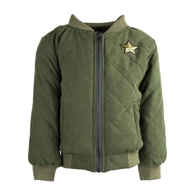Quilted Army Tiger Bomber, Green