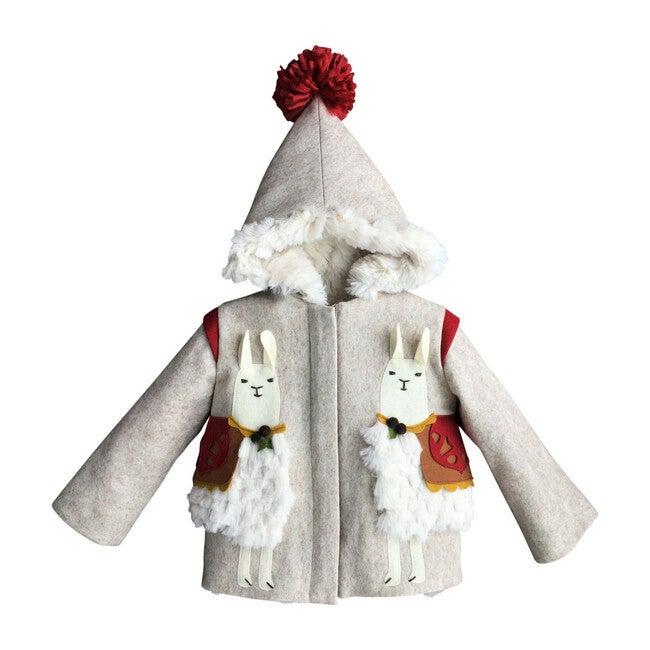 Lucky Llama Coat, Cream