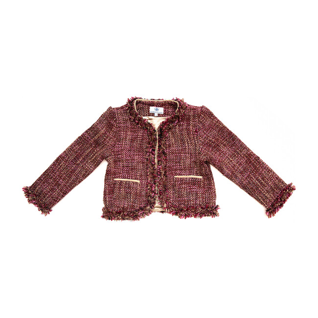 Tweed Coco Jacket, Pink and Gold