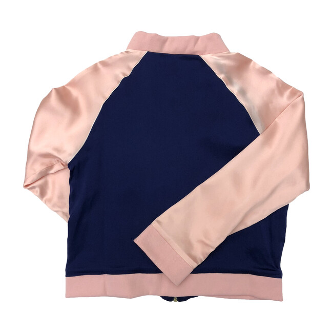 Bomber Jacket With Flamingo Patch, Blue