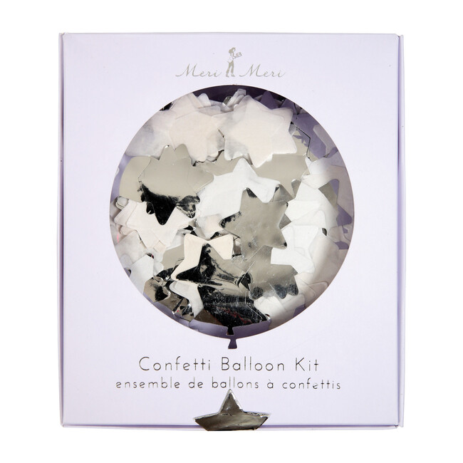 Silver Star Confetti Balloon Kit