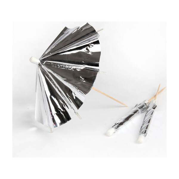 Silver Long Cocktail Umbrellas