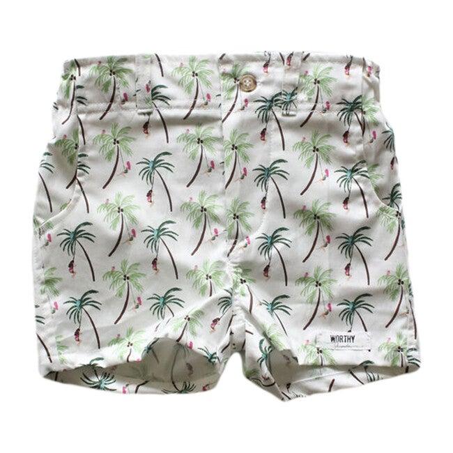 Shorts, Palm Tree Print