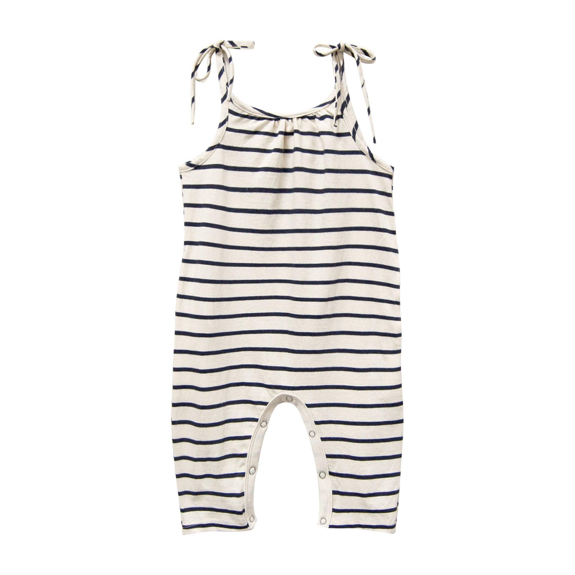 Jersey Jumpsuit, Navy Stripe