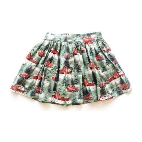 Holiday Skirt, Green