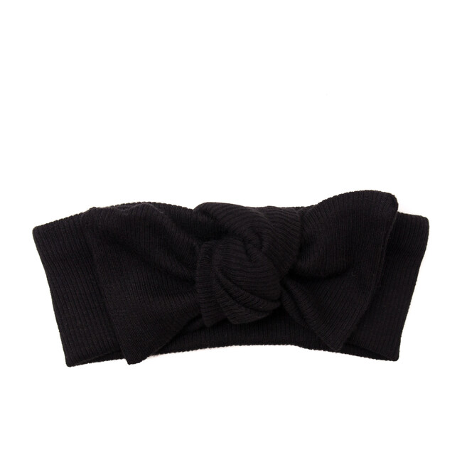 Organic Ribbed Headband, Black