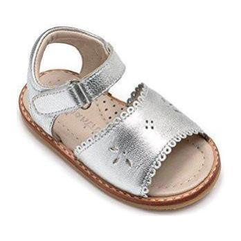 Classic Sandal with Scallop, Silver