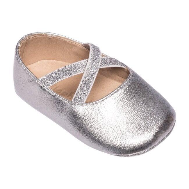 Baby Crossed Ballerina, Silver