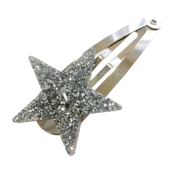 Glitter Star Hair Pin, Silver