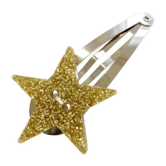 Glitter Star Hair Pin, Gold