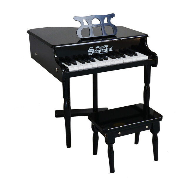 30-Key Classic Baby Grand Piano, Black