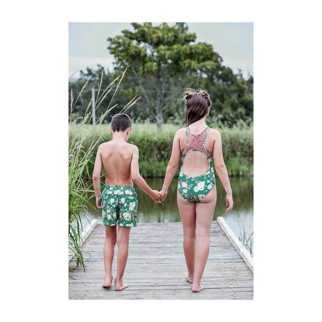 Boys board shorts, Rose Green