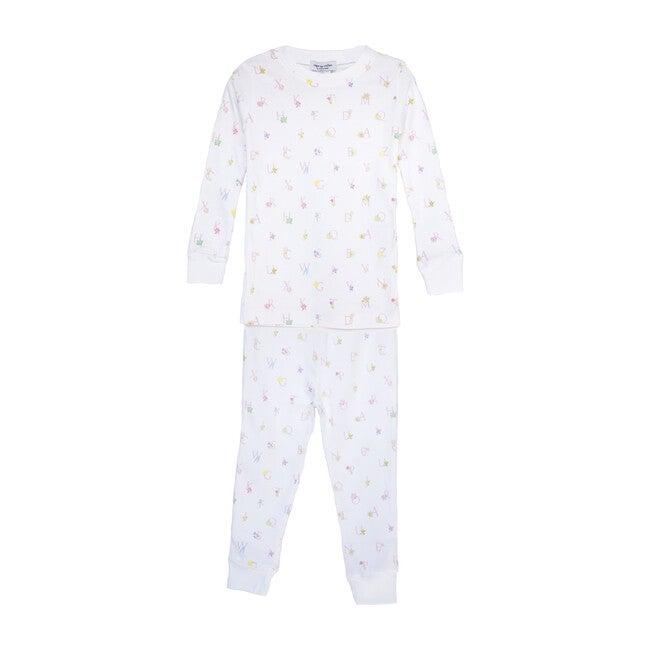Two-Piece Pajamas, Floral Alphabet