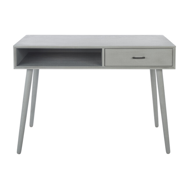 Remy 1-Drawer Writing Desk, Distressed Grey