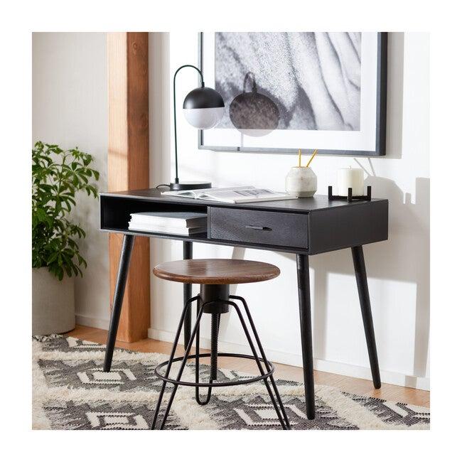 Remy 1-Drawer Writing Desk, Black