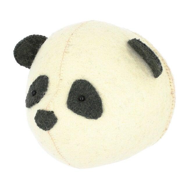 Mini Panda Head, Cream/Black