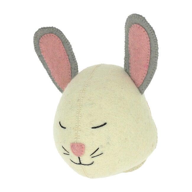 Sleepy Bunny Head, White