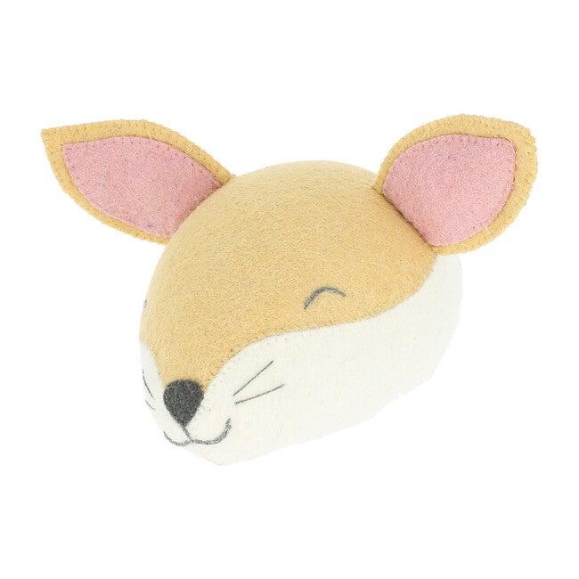 Sleepy Fox Head, Light Tan