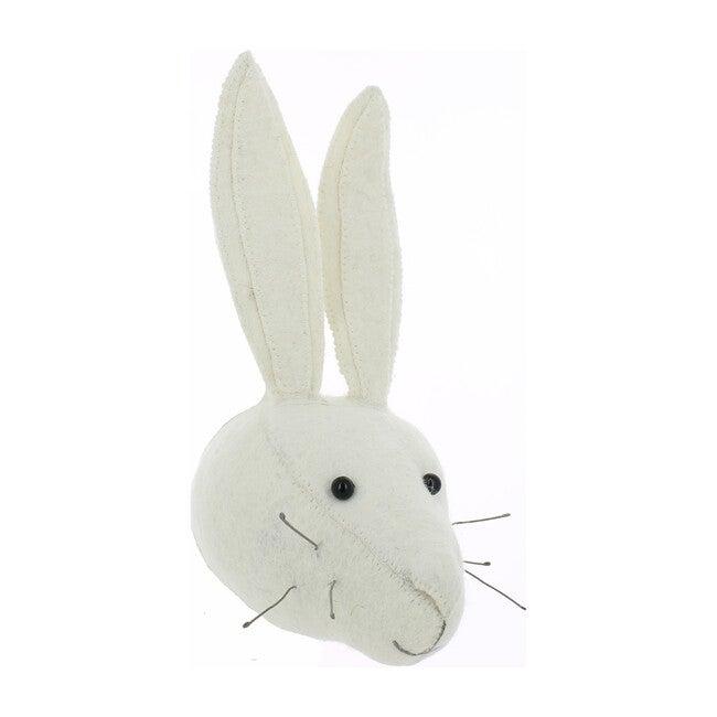 Mini White Rabbit Head, White