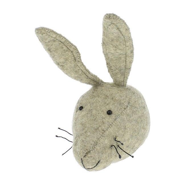 Mini Hare Head, Grey
