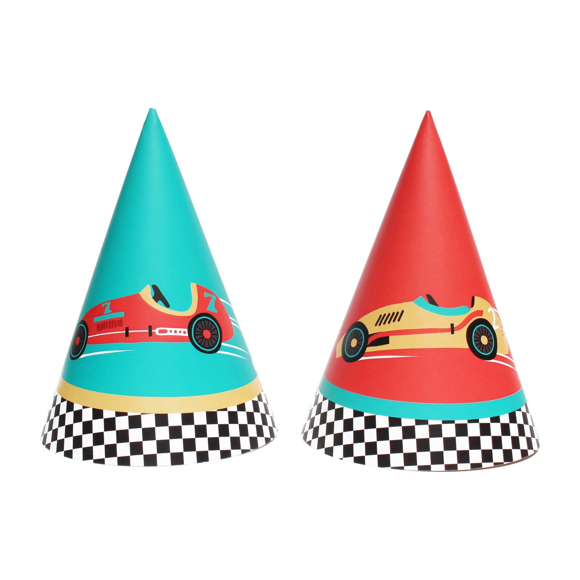 Vintage Race Car Party Hats