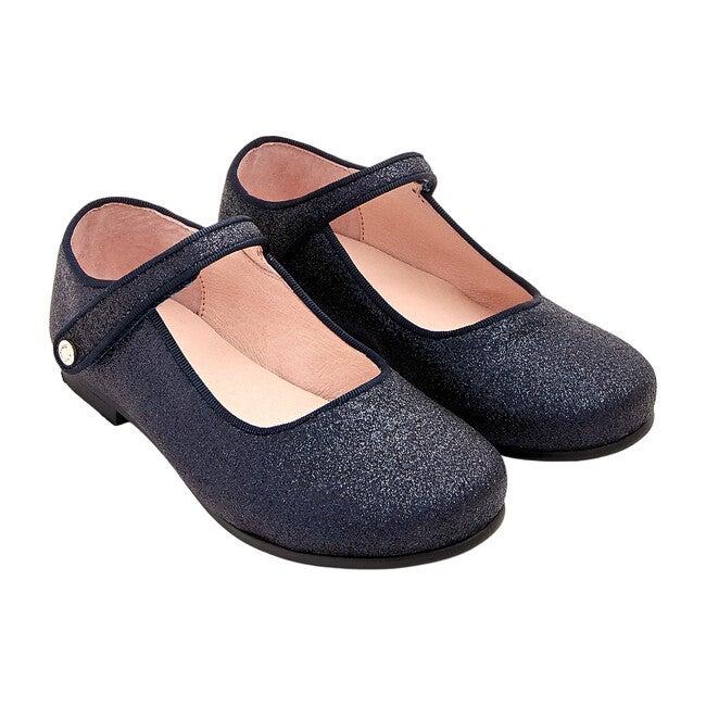 Glittery Mary Janes, Navy Blue