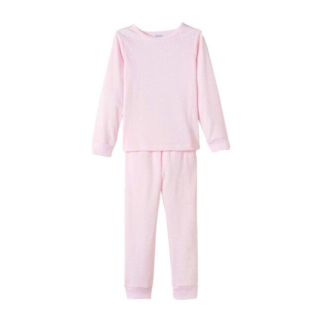 Heart Motif Pajamas, Pink & White