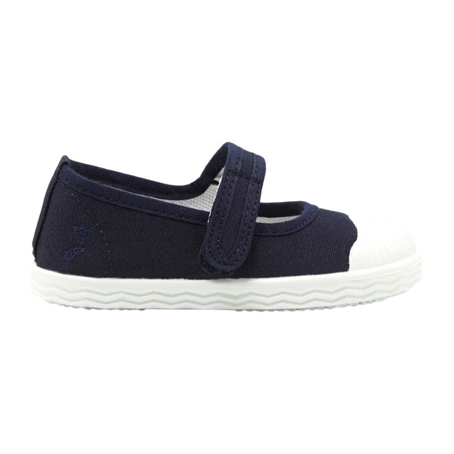 Baby Canvas Mary Janes, Navy Blue