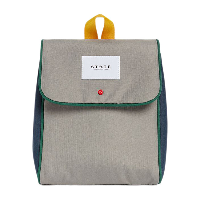 Richmond Lunch Sack, Green/Navy - Lunchbags - 1
