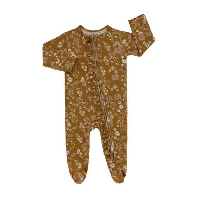Mustard Floral Footed Pajama