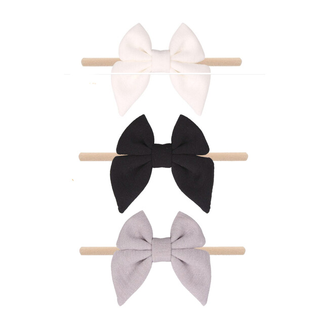 Neutrals Jersey Bow Set