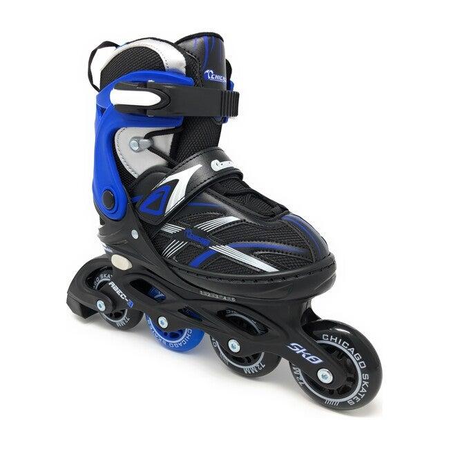Adjustable Inline Skates, Blue/Black