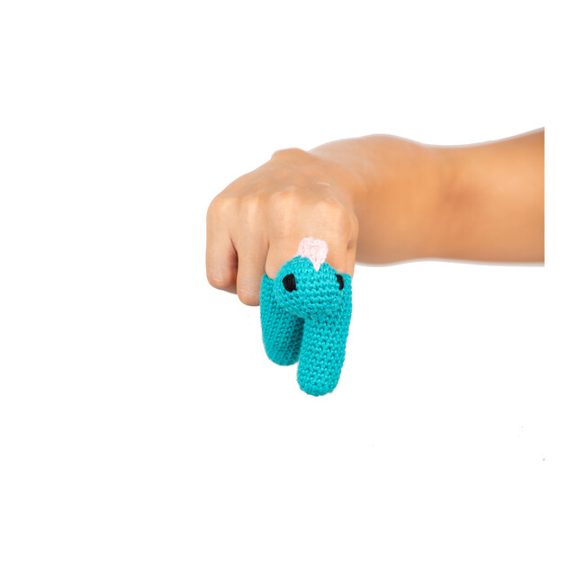Danny the Dino Two Finger Puppet, Set of 2
